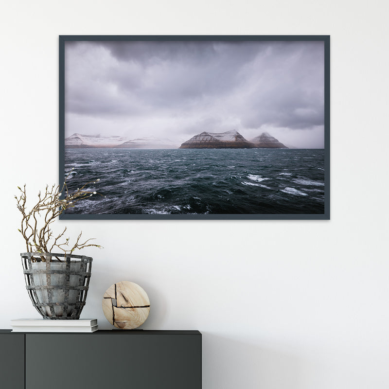 Dark and Stormy Day at Sea, Faroe Islands | Fine Art Photography Print by Northlandscapes