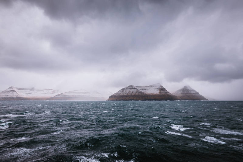 Dark and Stormy Day at Sea, Faroe Islands