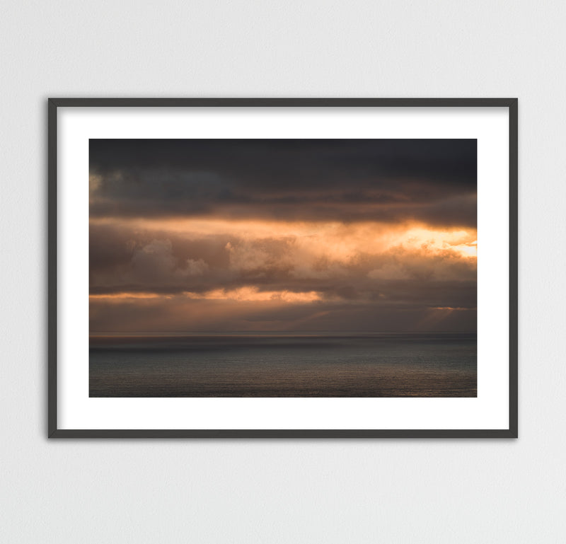 Clouds in Orange Colors over the Faroe Islands | Framed Photo Print by Jan Erik Waider
