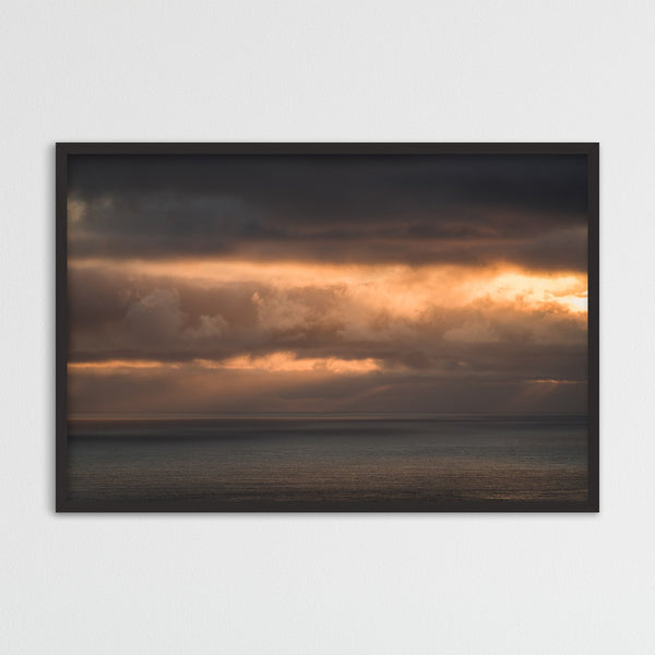 Clouds in Orange Colors over the Faroe Islands | Photography Print by Northlandscapes