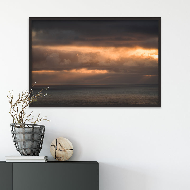 Clouds in Orange Colors over the Faroe Islands | Fine Art Photography Print by Northlandscapes