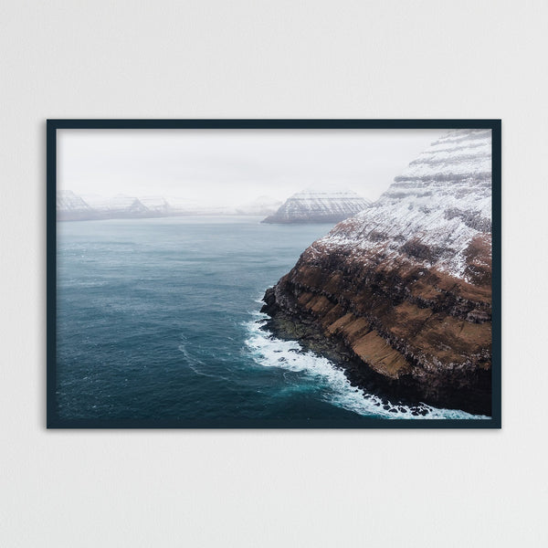 Coastline of the Faroe Islands from a Helicopter | Photography Print by Northlandscapes