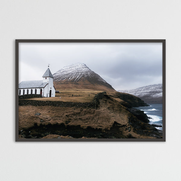 Church of Viðareiði, Faroe Islands | Photography Print by Northlandscapes