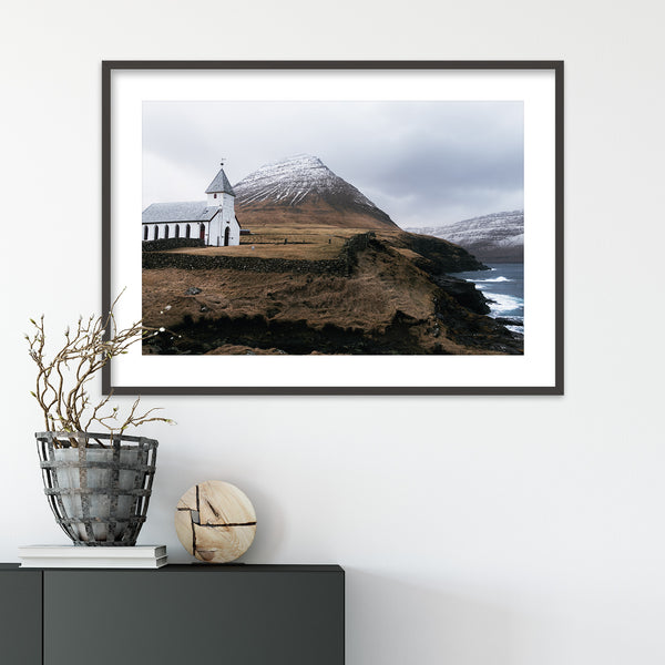 Church of Viðareiði, Faroe Islands | Wall Art Print by Jan Erik Waider