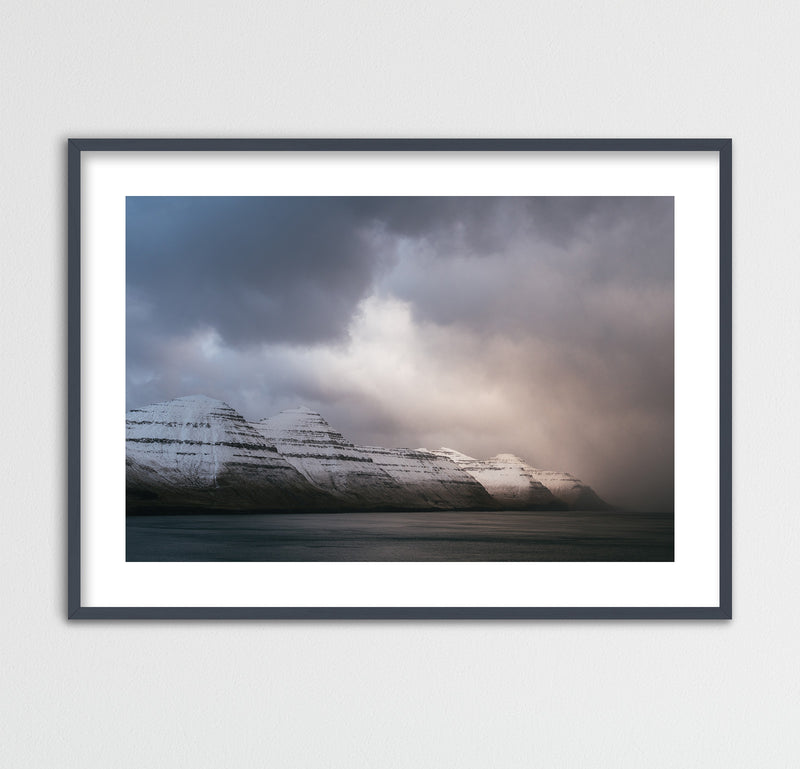 Winter Light over Kalsoy on the Faroe Islands | Framed Photo Print by Jan Erik Waider
