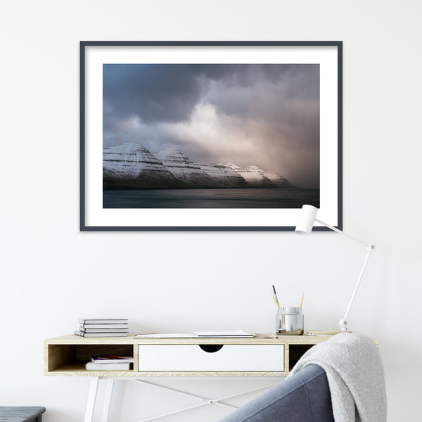 Winter Light over Kalsoy on the Faroe Islands | Wall Art Print by Jan Erik Waider
