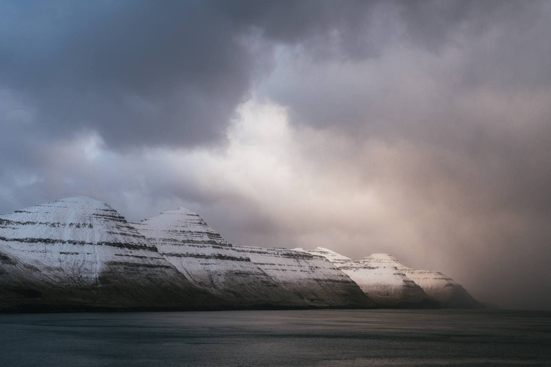 Winter Light over Kalsoy on the Faroe Islands