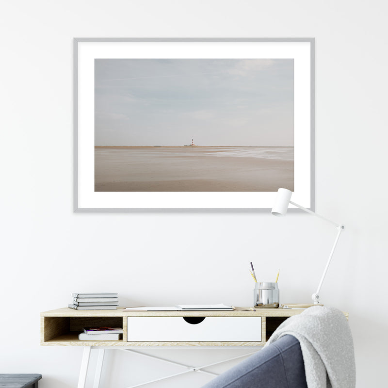 Westerheversand Lighthouse in Germany | Wall Art Print by Jan Erik Waider