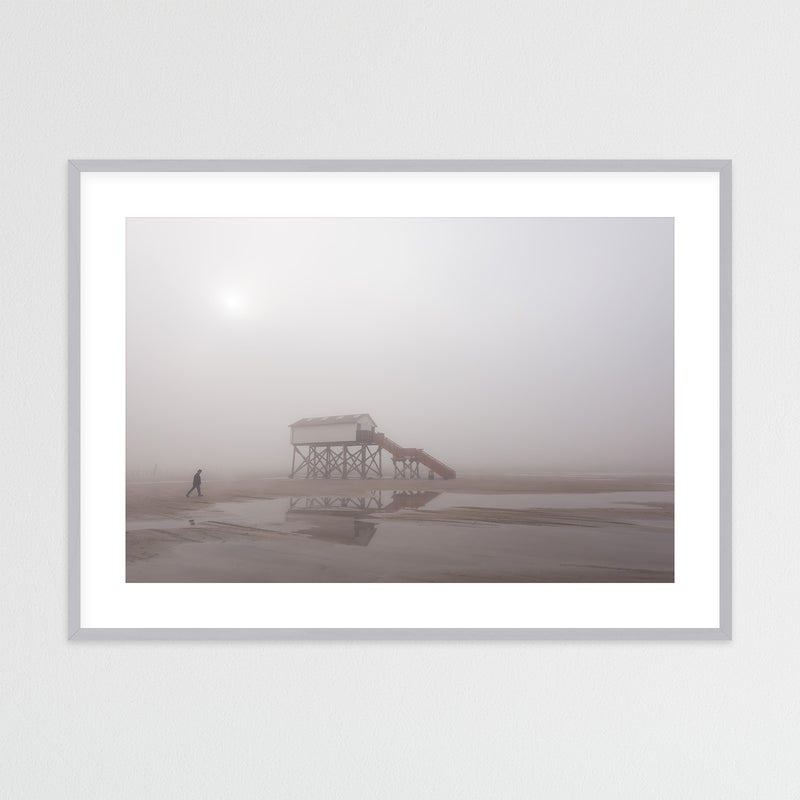 Foggy Day on the North Sea Coast | Framed Photo Print by Jan Erik Waider