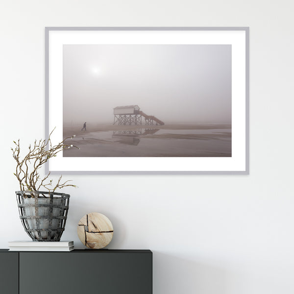 Foggy Day on the North Sea Coast | Wall Art Print by Jan Erik Waider