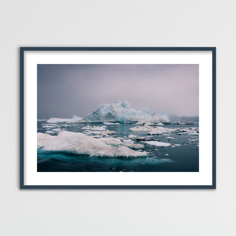 Evening Light over the Disko Bay in Greenland | Framed Photo Print by Jan Erik Waider