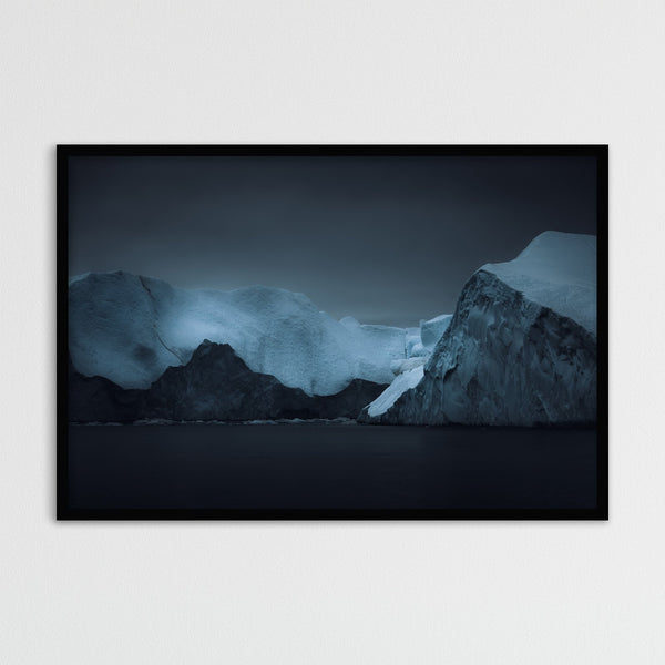 Dark Blue Icebergs in Greenland | Photography Print by Northlandscapes