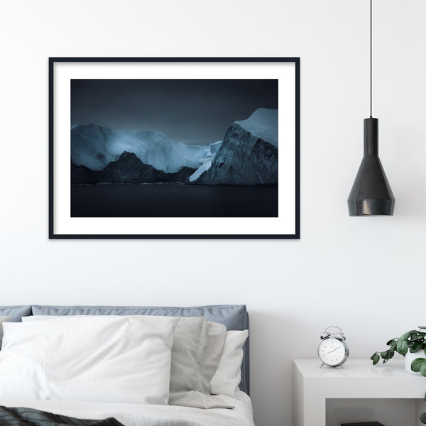 Dark Blue Icebergs in Greenland | Wall Art Print by Jan Erik Waider