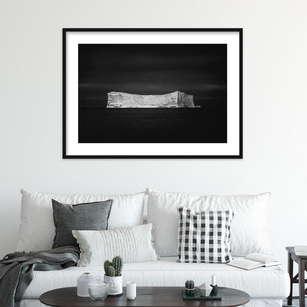 Black and White Iceberg in Greenland | Wall Art Print by Jan Erik Waider