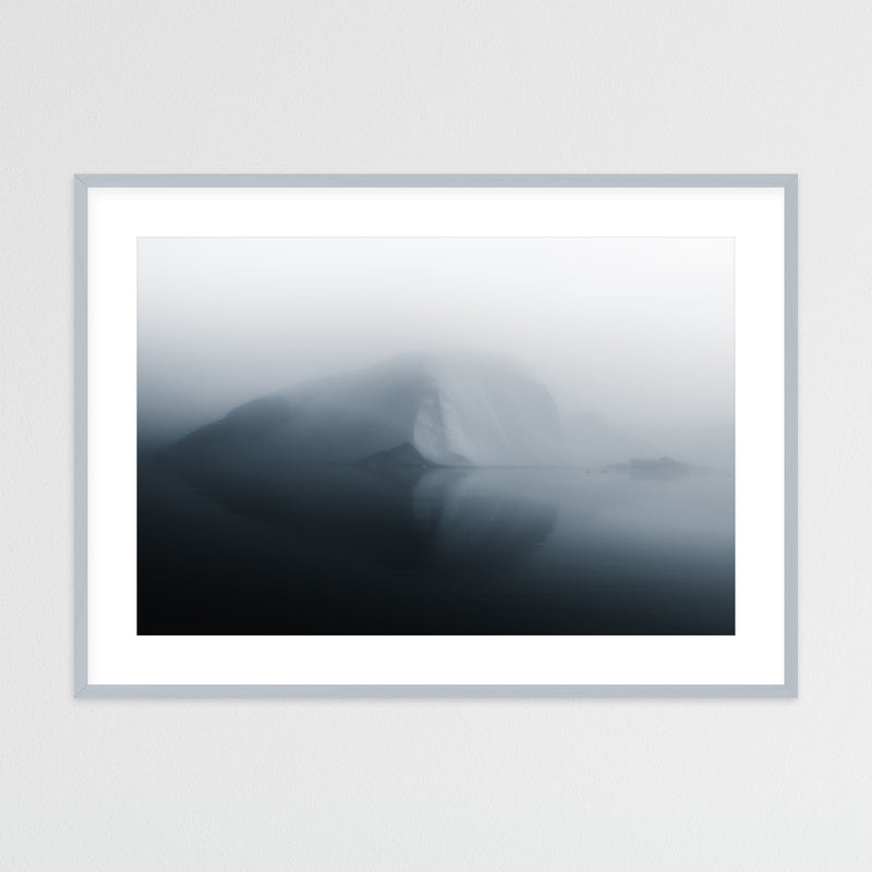 Minimalist Iceberg in Greenland | Framed Photo Print by Jan Erik Waider