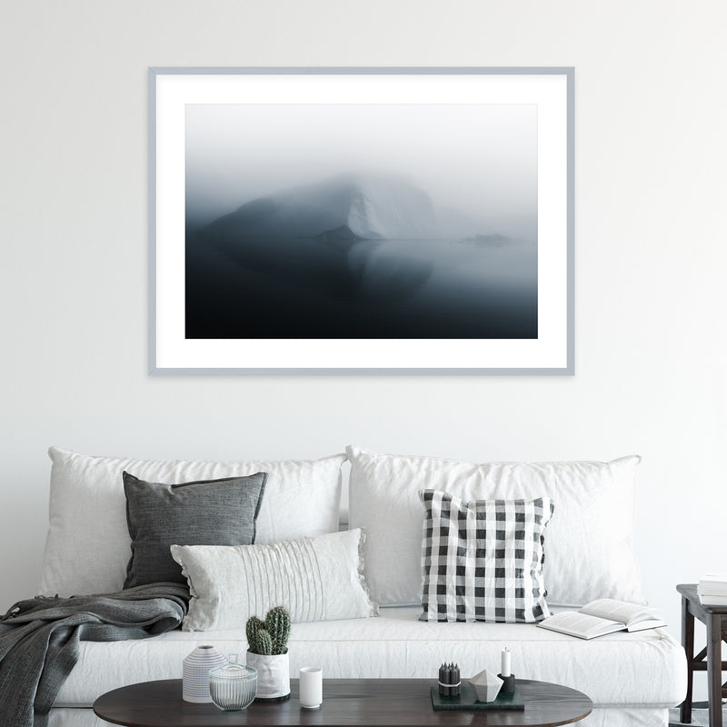 Minimalist Iceberg in Greenland | Wall Art Print by Jan Erik Waider
