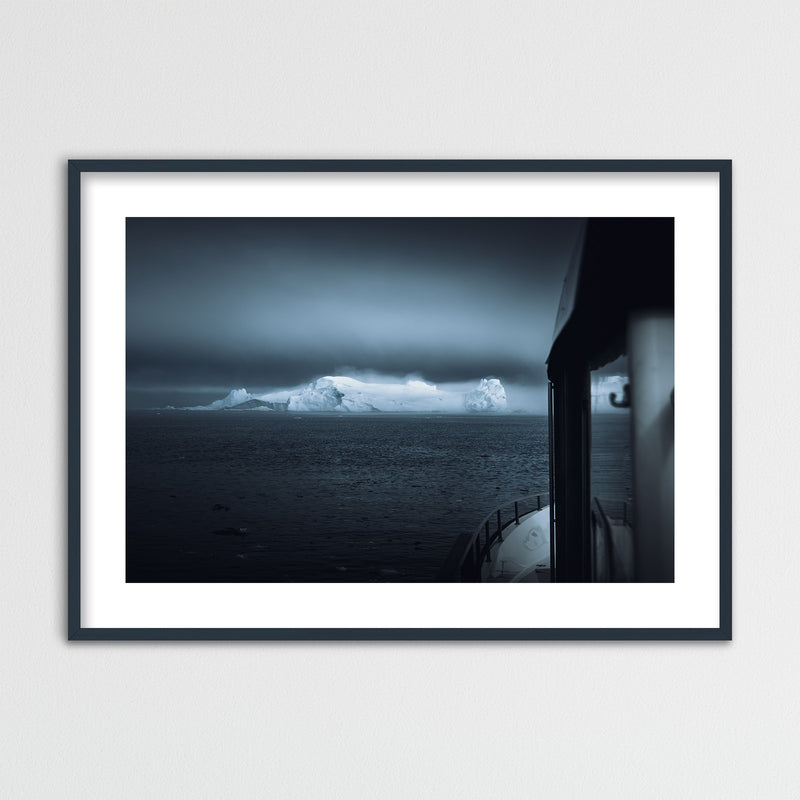 Boat in the Disko Bay of Greenland | Framed Photo Print by Jan Erik Waider