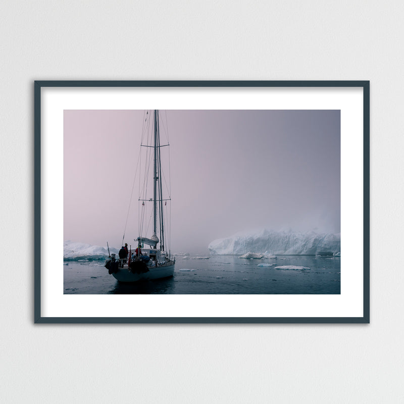 Sailing through the Disko Bay of Greenland | Framed Photo Print by Jan Erik Waider