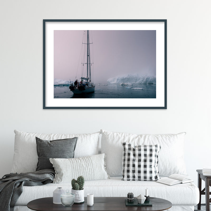 Sailing through the Disko Bay of Greenland | Wall Art Print by Jan Erik Waider