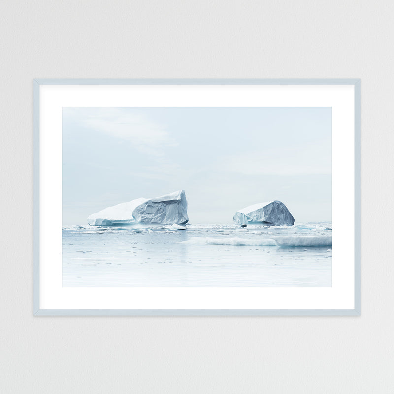 Minimalist Icebergs in Greenland | Framed Photo Print by Jan Erik Waider