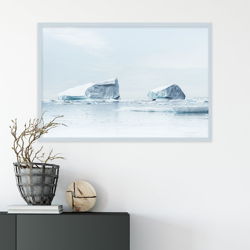 Minimalist Icebergs in Greenland | Fine Art Photography Print by Northlandscapes