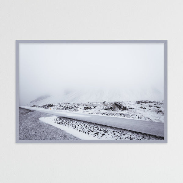 Monochrome Winter Morning in Iceland | Photography Print by Northlandscapes