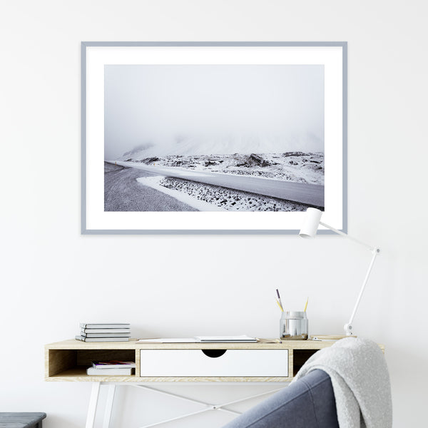 Monochrome Winter Morning in Iceland | Wall Art Print by Jan Erik Waider