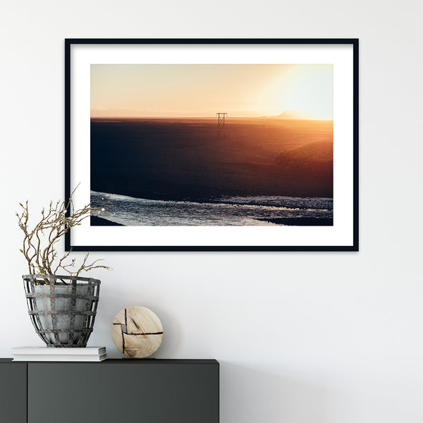 Midnight Sun over Iceland | Wall Art Print by Jan Erik Waider