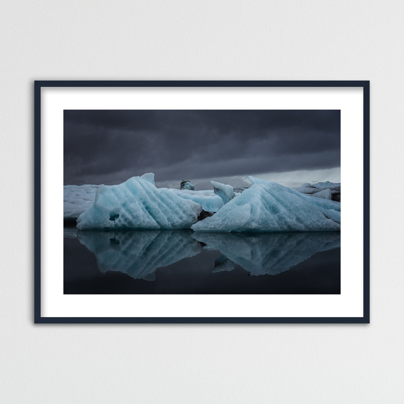 Icebergs in the Jökulsárlón Glacier Lagoon | Framed Photo Print by Jan Erik Waider
