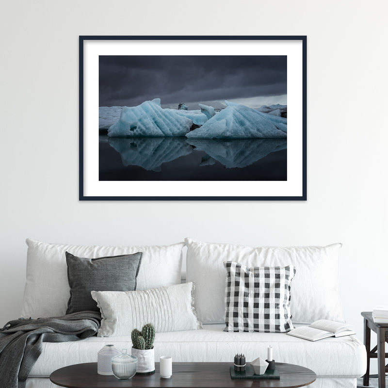 Icebergs in the Jökulsárlón Glacier Lagoon | Wall Art Print by Jan Erik Waider