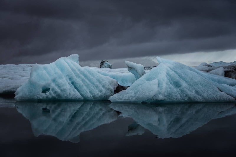 Icebergs in the Jökulsárlón Glacier Lagoon of Iceland