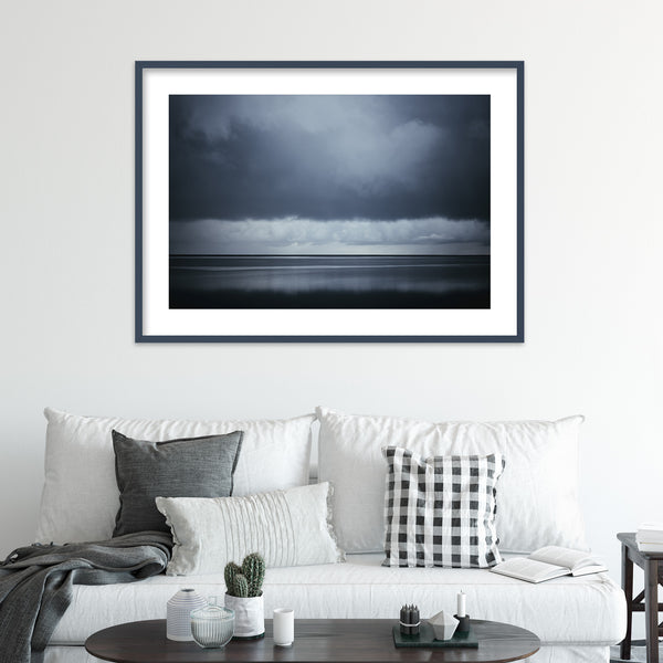 Dark Clouds over the Ocean | Wall Art Print by Jan Erik Waider