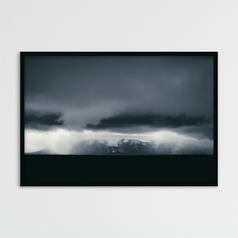 Dark and Monochrome Clouds over Iceland | Photography Print by Northlandscapes