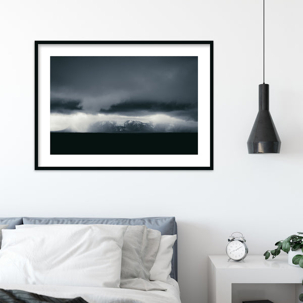 Dark and Monochrome Clouds over Iceland | Wall Art Print by Jan Erik Waider