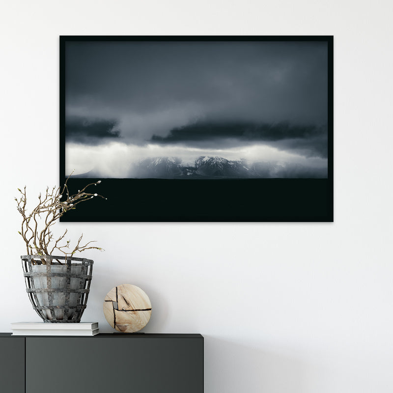 Dark and Monochrome Clouds over Iceland | Fine Art Photography Print by Northlandscapes