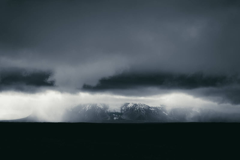 Dark and Monochrome Clouds over Iceland