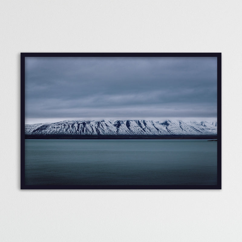 Mountain Range in Winter Landscape | Photography Print by Northlandscapes