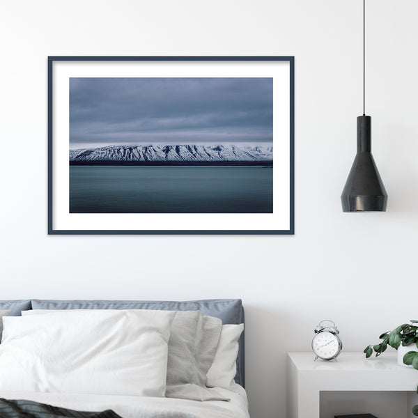 Mountain Range in Winter Landscape | Wall Art Print by Jan Erik Waider