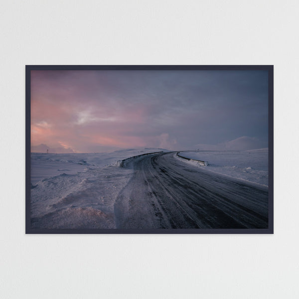 Snowy Road in Winter | Photography Print by Northlandscapes