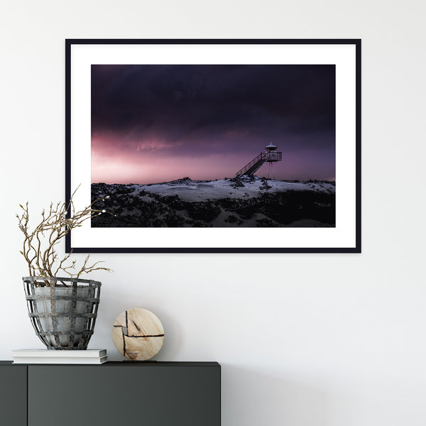 Lighthouse in the Westfjords of Iceland | Wall Art Print by Jan Erik Waider
