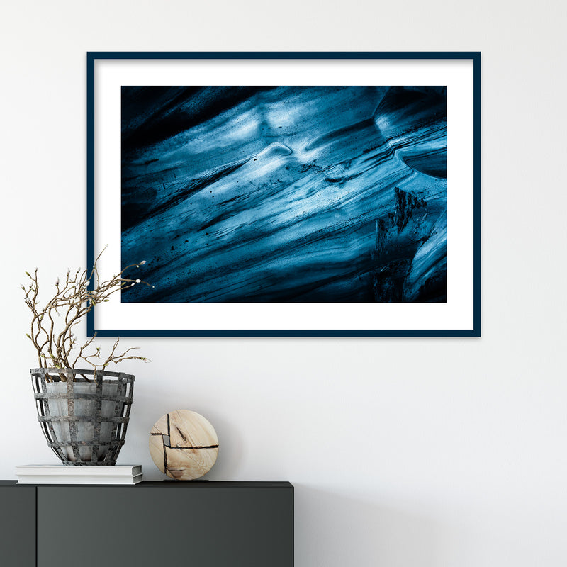 Abstract Blue Glacier Ice | Photography Print by Northlandscapes