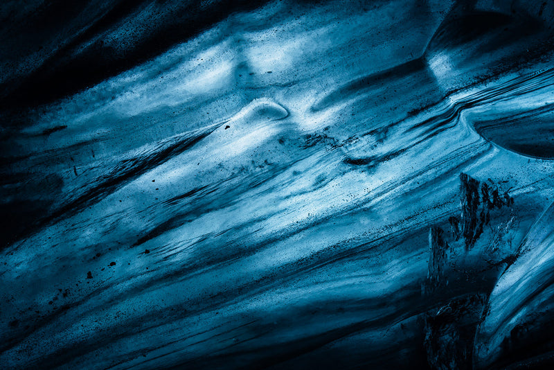 Abstract Blue Glacier Ice