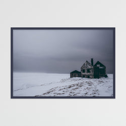 Abandoned House in Snowy Landscape of Iceland | Photography Print by Northlandscapes