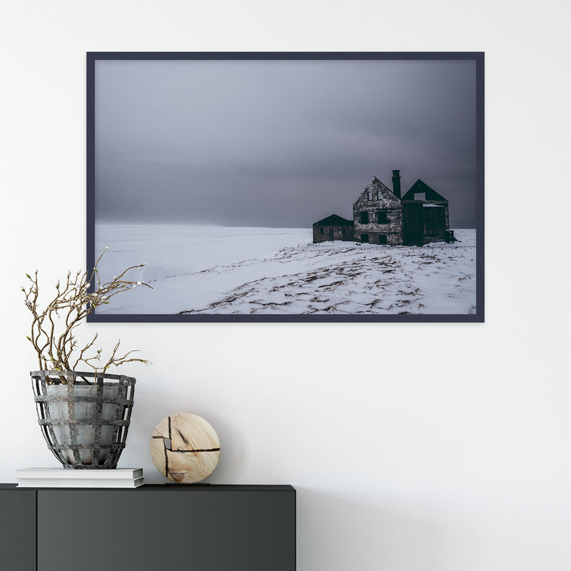 Abandoned House in Snowy Landscape of Iceland | Fine Art Photography Print by Northlandscapes