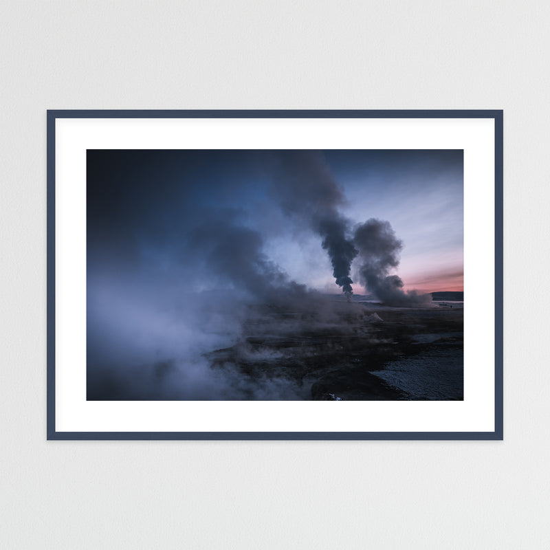 Geothermal Area of Mt. Námafjall in Iceland | Framed Photo Print by Jan Erik Waider