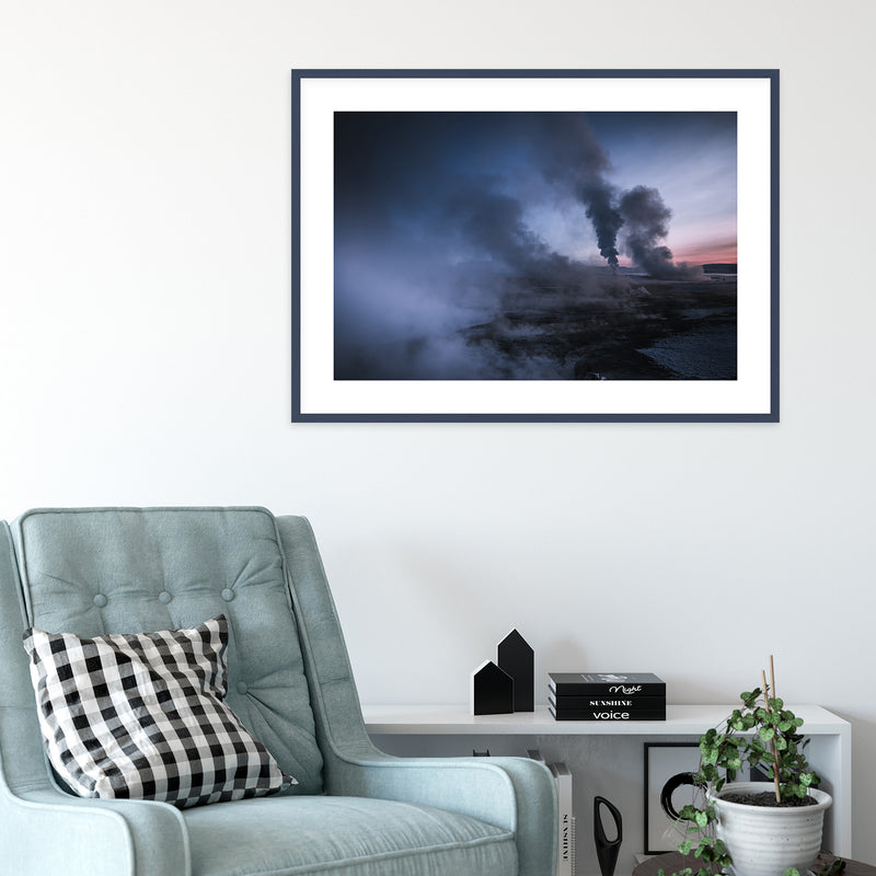 Geothermal Area of Mt. Námafjall in Iceland | Wall Art Print by Jan Erik Waider