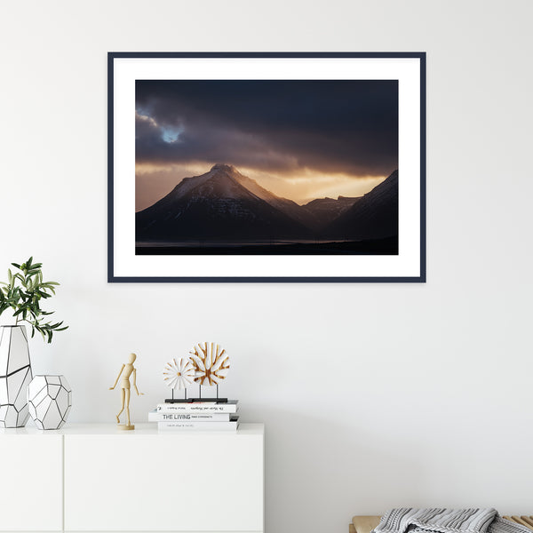 Winter Sunset over Vestrahorn, Iceland | Wall Art Print by Jan Erik Waider