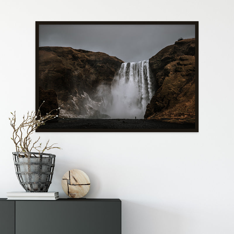 Dark Sky over Skógafoss Waterfall | Fine Art Photography Print by Northlandscapes