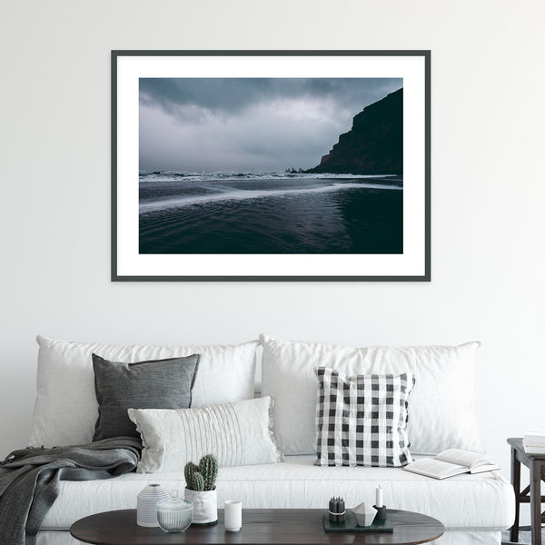 Black Sand Beach of Vik in Iceland | Wall Art Print by Jan Erik Waider
