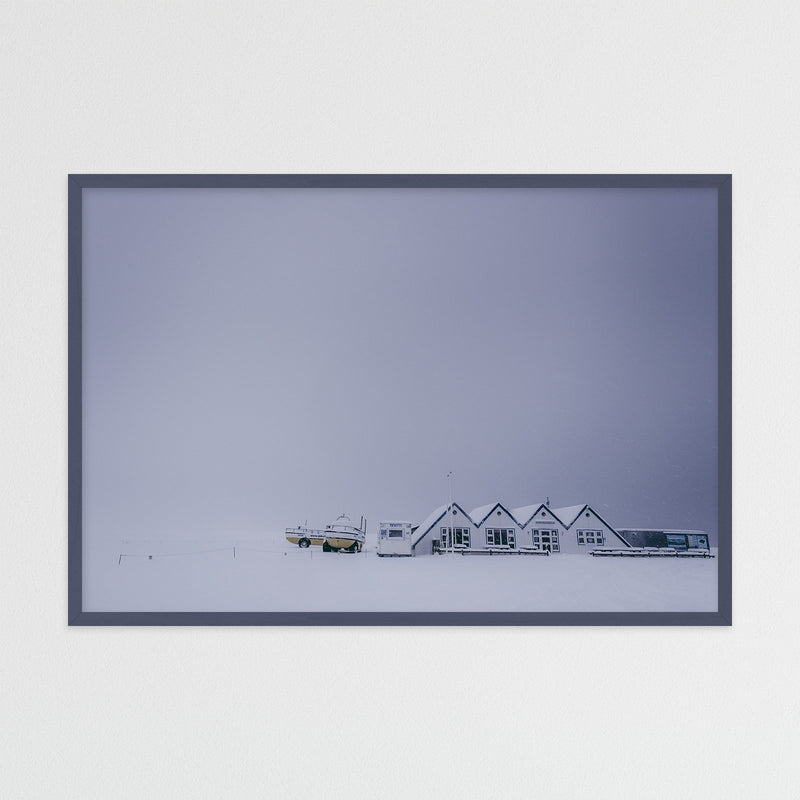 Huts in Winter Landscape of Iceland | Photography Print by Northlandscapes
